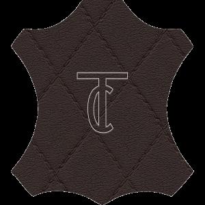 Simili Cuir Capiton Chocolat - W0411