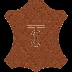 Simili Cuir Capiton Cognac - W0407
