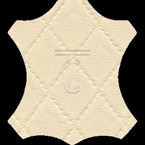 Simili Cuir Capiton Écru - W0401