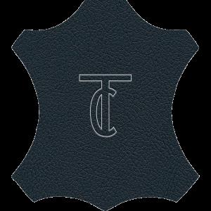 Simili Cuir Capiton Lisse Bleu Marine - W0414