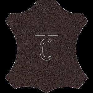 Simili Cuir Capiton Lisse Chocolat - W0410