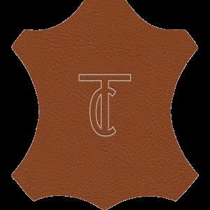 Simili Cuir Capiton Lisse Cognac - W0406