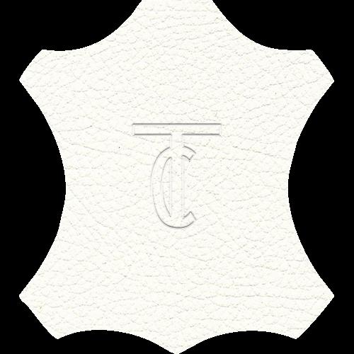 Simili Cuir Grano Fine Blanc - W0500