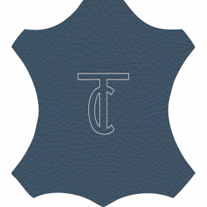 Simili Cuir Grano Fine Bleu - W0511