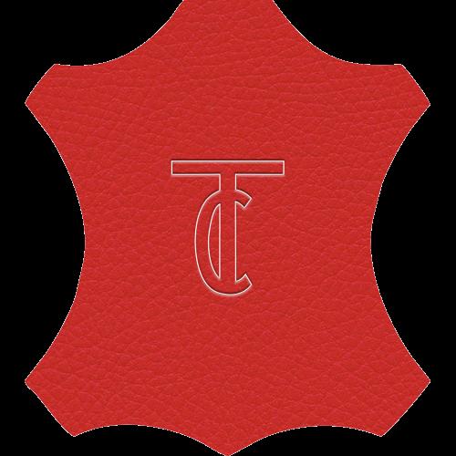 Simili Cuir Grano Fine Rouge - W0513