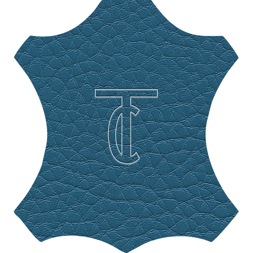 Simili Cuir Grano Grande Bleu - W0629