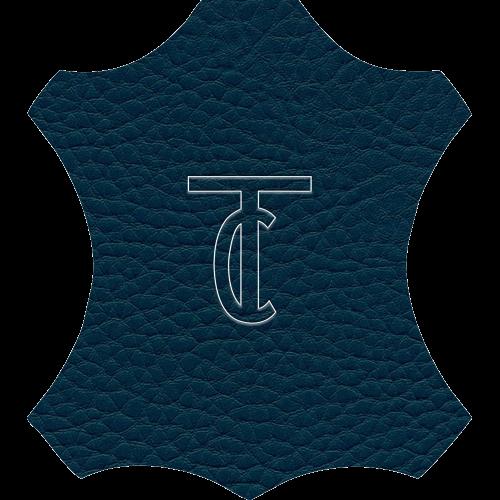 Simili Cuir Grano Grande Bleu Pétrole - W0630