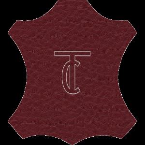 Simili Cuir Grano Grande Bordeaux - W0618