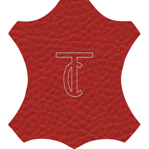 Simili Cuir Grano Grande Rouge - W0614