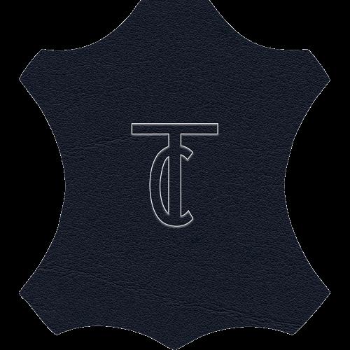 Simili cuir Venato Bleu Marine - W0730