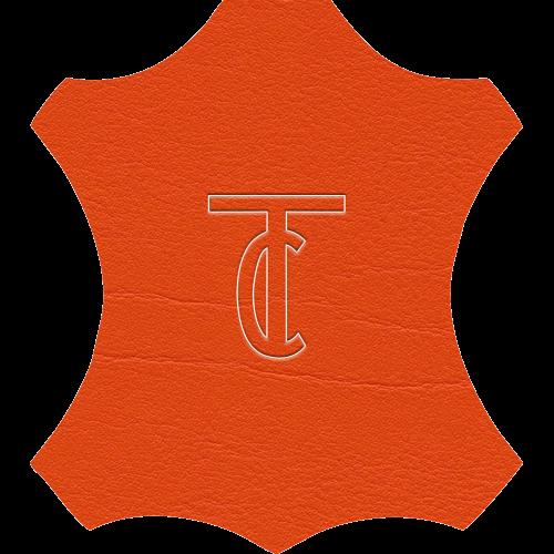 Simili Cuir Venato Orange - W0709