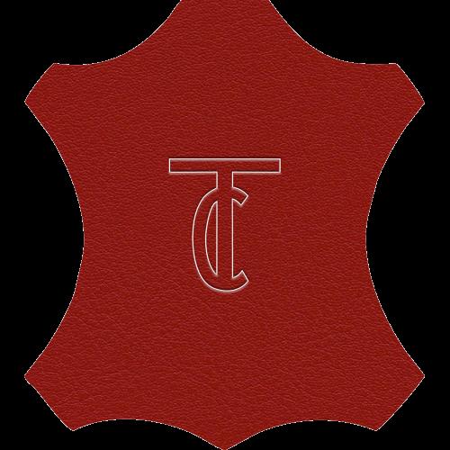 Simili Cuir Venato Rouge - W0711