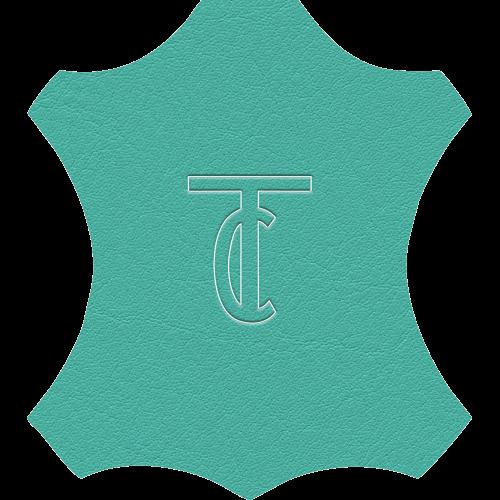 Simili Cuir Venato Turquoise - W0721